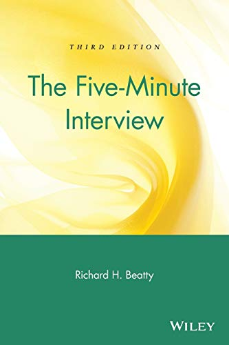 9780471250838: The Five Minute Interview: A Job Hunter's Guide to a Successful Interview