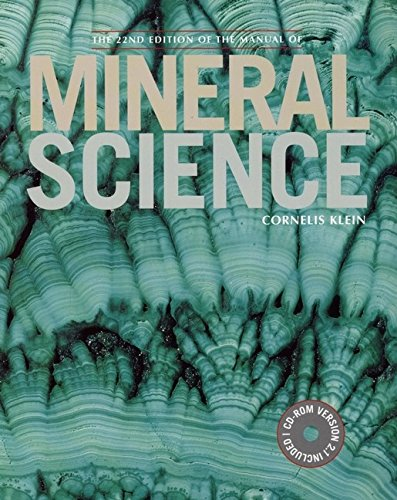 9780471251774: Manual of Mineral Science, 22nd Edition (Manual of Mineralogy)