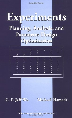 9780471255116: Experiments: Planning, Analysis, and Parameter Design Optimization