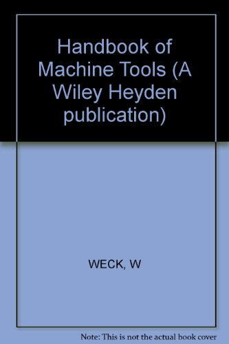 9780471262268: Handbook of Machine Tools (English and German Edition)