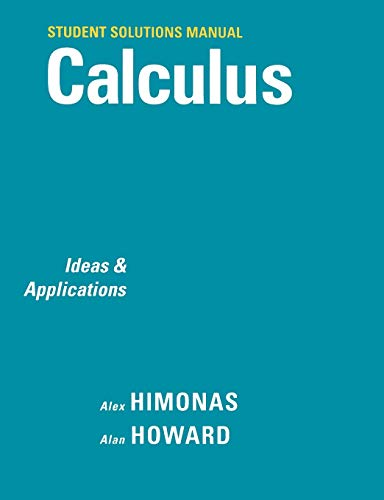 9780471266396: Calculus, Student Solutions Manual: Ideas and Applications