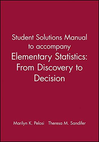Student Solutions Manual to accompany Elementary Statistics: Pelosi, Marilyn K.;
