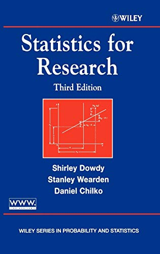 Statistics for Research (Wiley Series in Probability: Shirley Dowdy, Stanley
