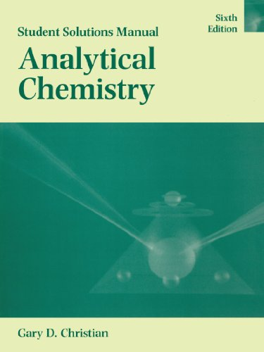 9780471268444: Analytical Chemistry, Student Solutions Manual