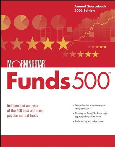 9780471269625: Morningstar Funds 500, 2003 Edition