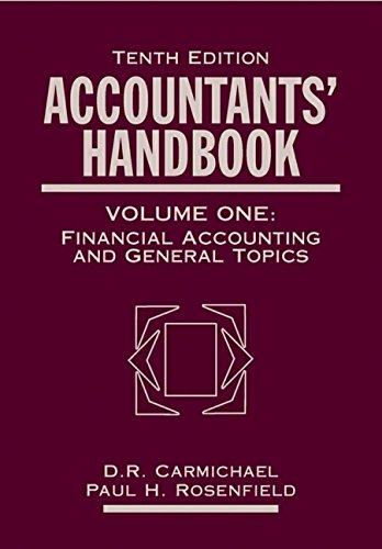 Accountants Handbook : Financial Accounting and General: Douglas R. Carmichael