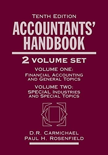 Accountants' Handbook: 2 Volume Set: Carmichael, D. R.,