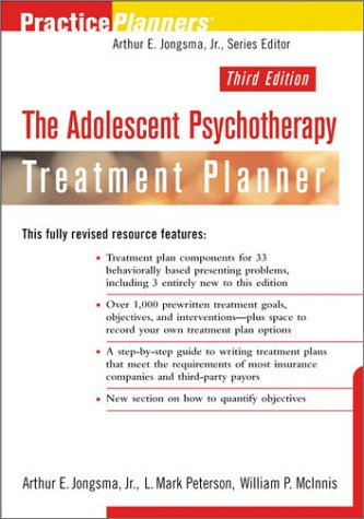 9780471270492: The Adolescent Psychotherapy Treatment Planner, 3rd Edition (PracticePlanners)