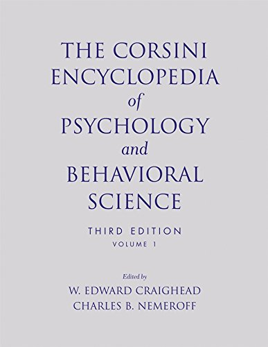 9780471270805: The Corsini Encyclopedia of Psychology and Behavioral Science, Volume 1