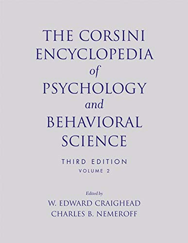 9780471270812: The Corsini Encyclopedia of Psychology and Behavioral Science, Volume 2