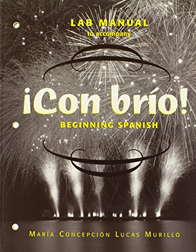 9780471272502: ¡Con brío!, Laboratory Manual (Spanish Edition)