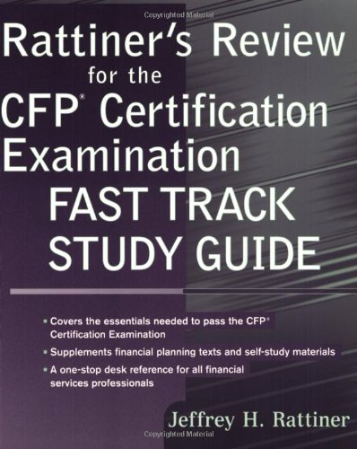 9780471272656: Rattiner's Review for the CFP Certification Examination, Fast Track Study Guide