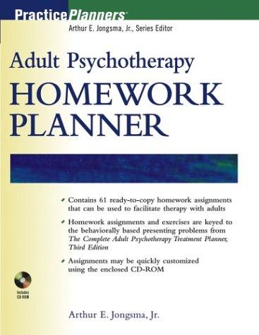 9780471273950: Adult Psychotherapy Homework Planner (PracticePlanners)