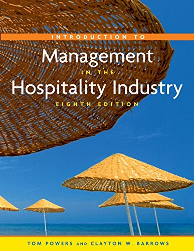 9780471274575: Introduction to Management in the Hospitality Industry