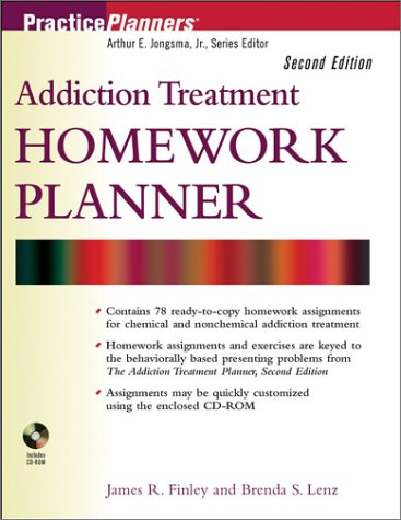 9780471274599: Addiction Treatment Homework Planner (PracticePlanners)