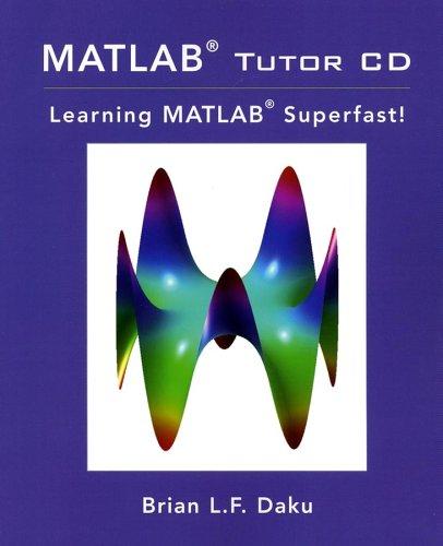 9780471274698: MATLAB Tutor CD: Learning MATLAB Superfast!