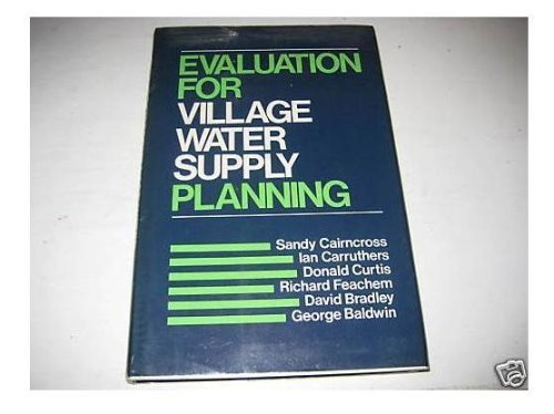 9780471276623: Evaluation for Village Water Supply Planning