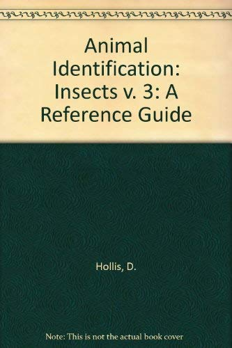9780471277675: Animal Identification: Insects v. 3: A Reference Guide
