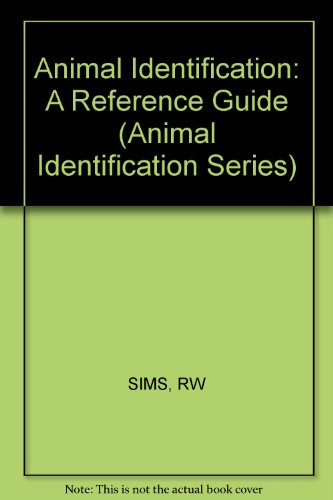 9780471277682: Animal Identification: A Reference Guide