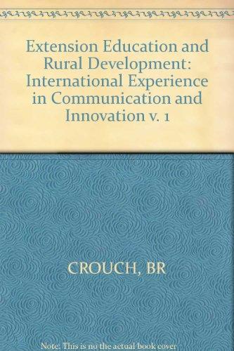 9780471278290: Extension Education and Rural Development: International Experience in Communication and Innovation v. 1