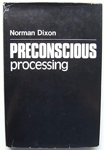 9780471279822: Preconscious Processing