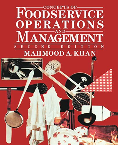 9780471284024: Concepts of Foodservice Operations and Management, 2nd Edition