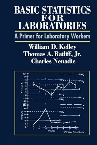 Basic Statistics for Laboratories : A Primer: William D. Kelley;