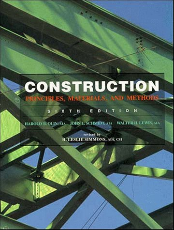9780471284161: Construction: Principles, Materials, and Methods, 6th Edition