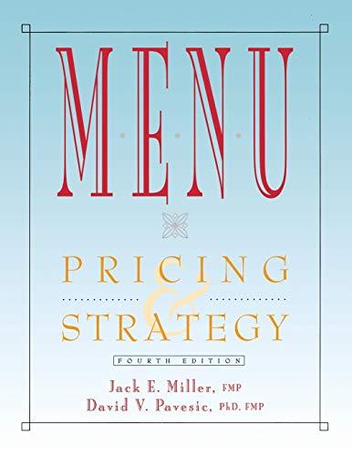 Menu: Pricing & Strategy (Hospitality, Travel &: Jack E. Miller,