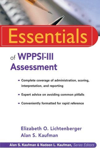 9780471288954: Essentials of WPPSI-III Assessment