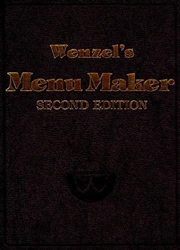 9780471289876: Wenzel's Menu Maker