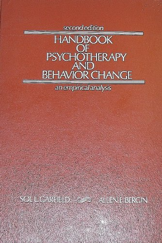 9780471291787: Handbook of Psychotherapy and Behavior Change