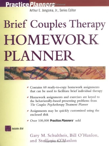 9780471295112: Brief Couples Therapy Homework Planner (PracticePlanners)