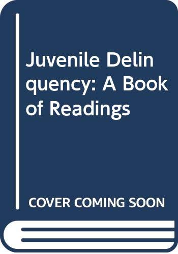 9780471297253: Juvenile Delinquency: A Book of Readings