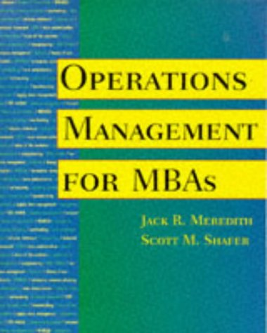 9780471298281: Operations Management for MBAs