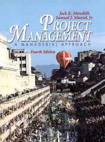 9780471298298: Project Management: A Managerial Approach (Wiley series in production/operations management)