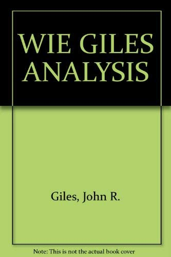Real Analysis an Introductory Course: Giles