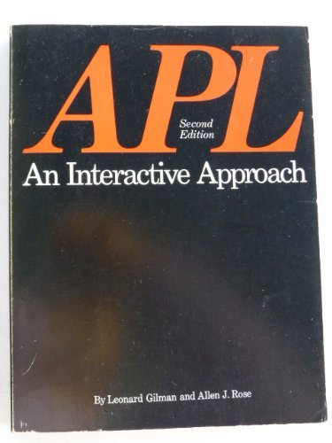 9780471300212: A. P. L.: An Interactive Approach