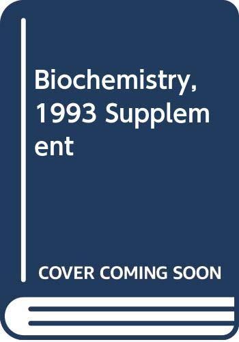 9780471303589: Biochemistry 1993 Supplement