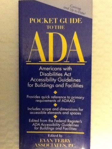 9780471303671: Pocket Guide to the ADA: Americans with Disabilities Act Accessibility Guidelines for Buildings and Facilities