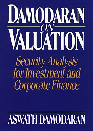 9780471304654: Damodaran on Valuation: Security Analysis for Investment and Corporate Finance (Wiley Professional Banking and Finance Series)