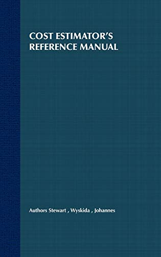 9780471305101: Cost Estimator s Reference Manual 2e (New Dimensions In Engineering Series)