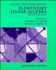 9780471306221: Elementary Linear Algebra - Student Solutions Manual