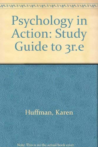 9780471306856: Psychology in Action, Study Guide