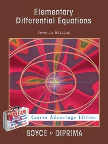 9780471308409: Elementary Differential Equations Course Advant Age Edition