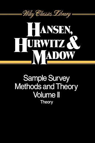 9780471309666: Sample Survey Methods V2 P: Methods and Theory (Wiley Classics Library)