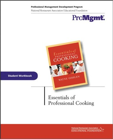 9780471309710: Essentials of Professional Cooking: Student Workbook