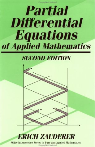 9780471315162: Partial Differential Equations of Applied Mathematics, 2nd Edition