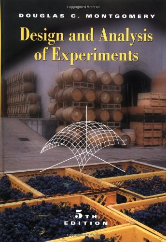 9780471316497: Design and Analysis of Experiments, 5th Edition