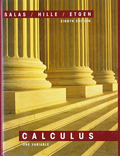 9780471316589: Salas and Hille's Calculus: One Variable